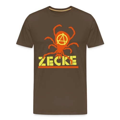 Zecke - braun shirt - Männer Premium T-Shirt