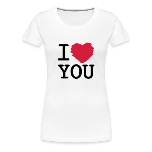 I Love You T Shirt - Women's Premium T-Shirt