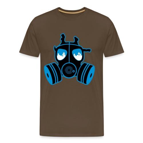 Gassmaske - Premium T-skjorte for menn