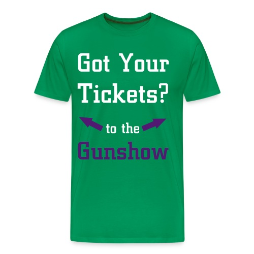 Tickets to the gun show - Premium-T-shirt herr