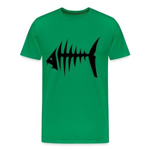Fish bone skjorte - Premium T-skjorte for menn