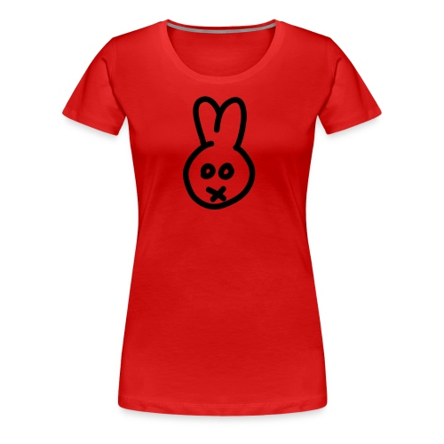 Bunny - red girlie - Frauen Premium T-Shirt