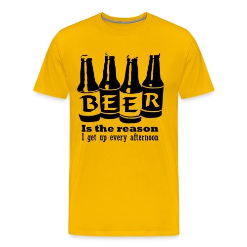 Beer is reason... - Premium-T-shirt herr