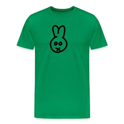 Bunny - green shirt - Männer Premium T-Shirt
