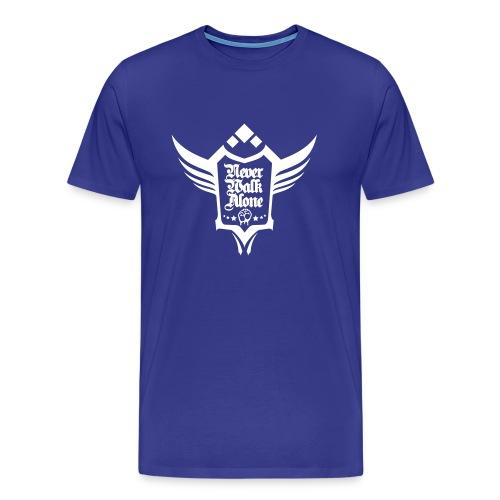 Neverwalkalone3 T-Shirt blau - Männer Premium T-Shirt