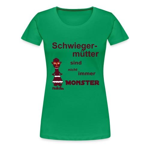 Schwiegermutter - Shirt grün - Frauen Premium T-Shirt