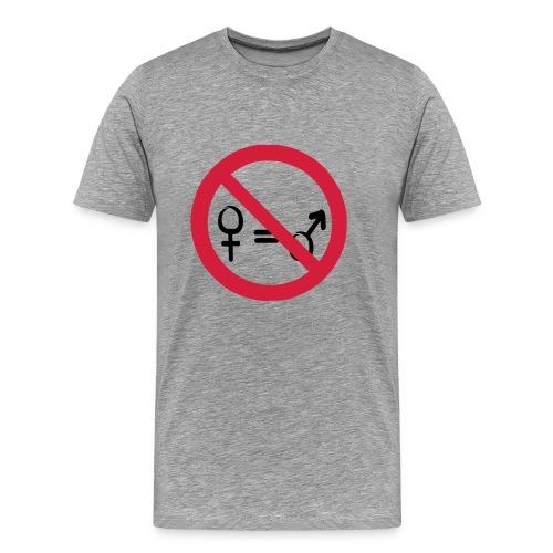 Not Equal - Herre premium T-shirt
