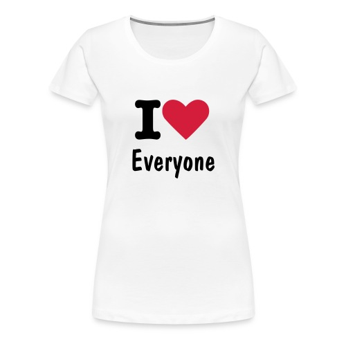 i love - Women's Premium T-Shirt