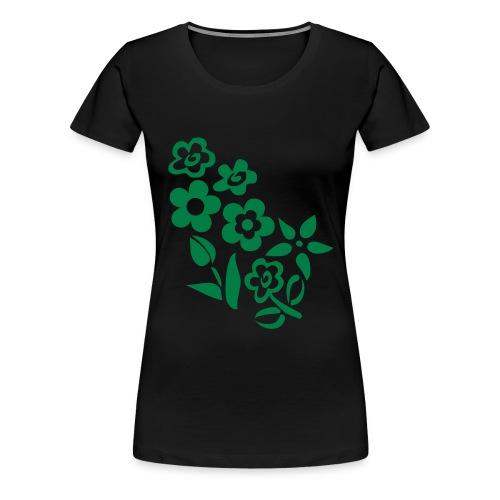 blumen grün - Frauen Premium T-Shirt