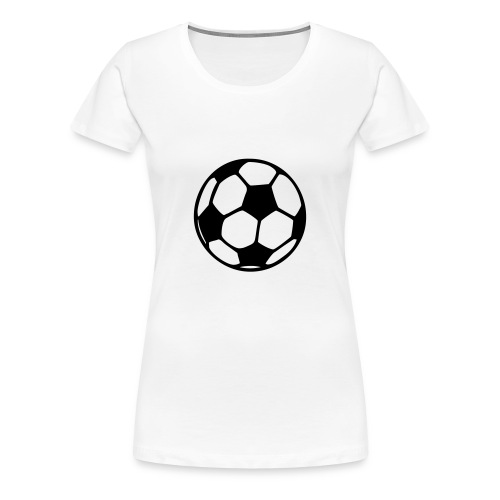 Football (black) - Women's Premium T-Shirt
