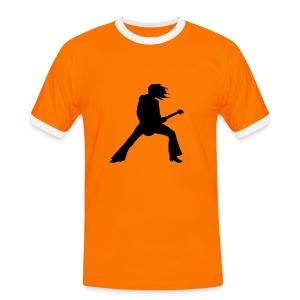 punk - Koszulka męska z kontrastowymi wstawkami