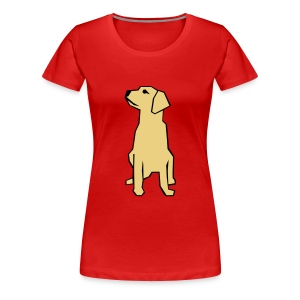 Womens Tee with Labrador Print - Women's Premium T-Shirt