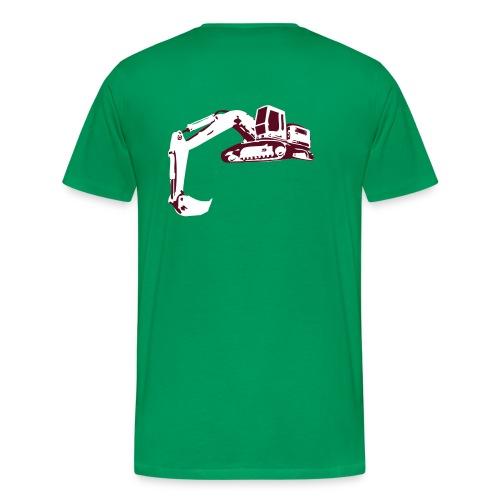 tshirt kraan wit/groen - Mannen Premium T-shirt