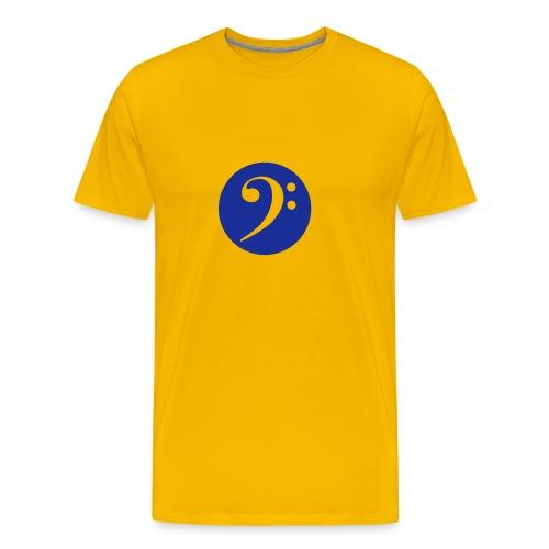 Buntes Bassschlüssel-Shirt - Männer Premium T-Shirt