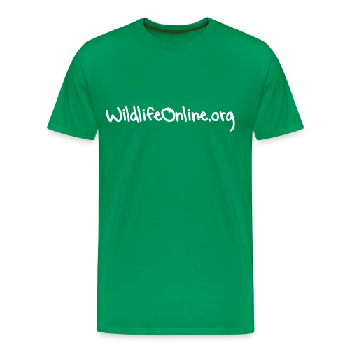 Mens Wildlife Online T-Shirt, 14 Colour choices - White writing. - Men's Premium T-Shirt