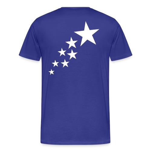 Blue and White Stars! - Herre premium T-shirt