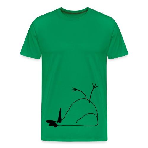 Liegendes Huhn - Männer Premium T-Shirt