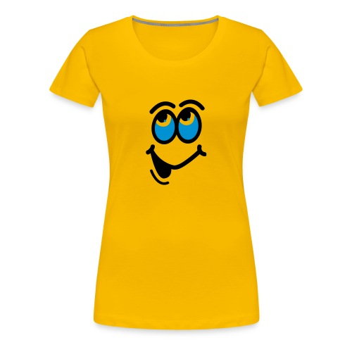 Comic Eyes Girlie T-shirt - Women's Premium T-Shirt
