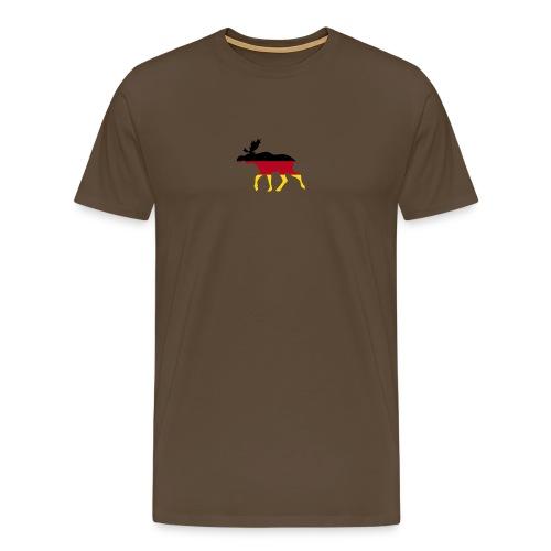 Deutsche Elch braun - Männer Premium T-Shirt