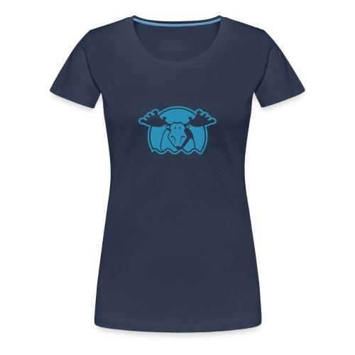 Elg - marine - dame - Frauen Premium T-Shirt