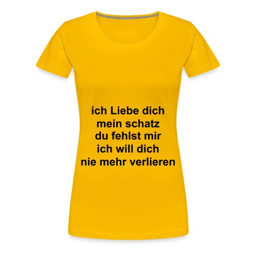 T-shirts mit Text  - Frauen Premium T-Shirt