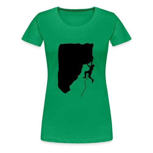 Klettern im Vorstieg - Frauen Premium T-Shirt