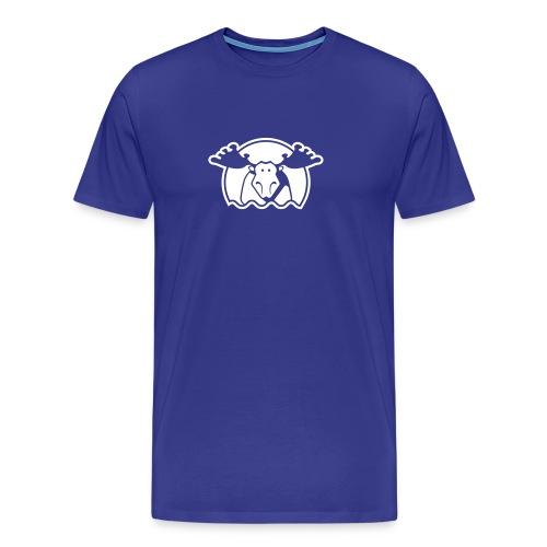 Elg - blå - Männer Premium T-Shirt