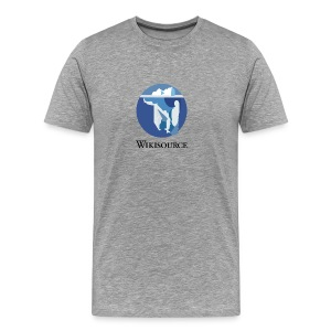Wikisource torse Blanc/Cendre - T-shirt Premium Homme