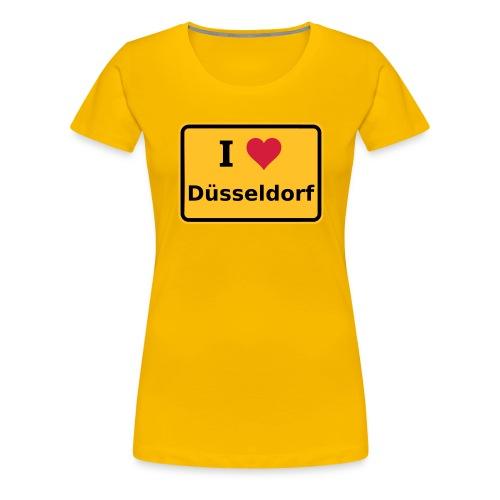 I Love Düsseldorf - Frauen Premium T-Shirt