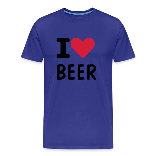I Luv Beer - changeable text - Men's Premium T-Shirt