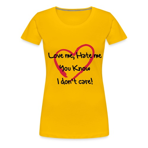 Love or not? - Premium-T-shirt dam
