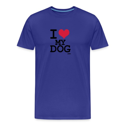 I heart my dog men's long sleeve shirt - Men's Premium T-Shirt