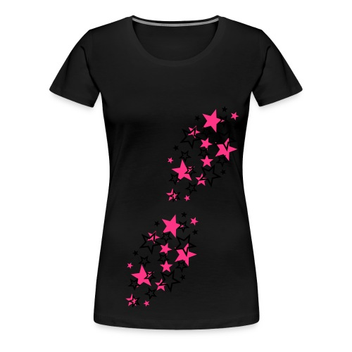 Pinke-Sterne :) - Frauen Premium T-Shirt