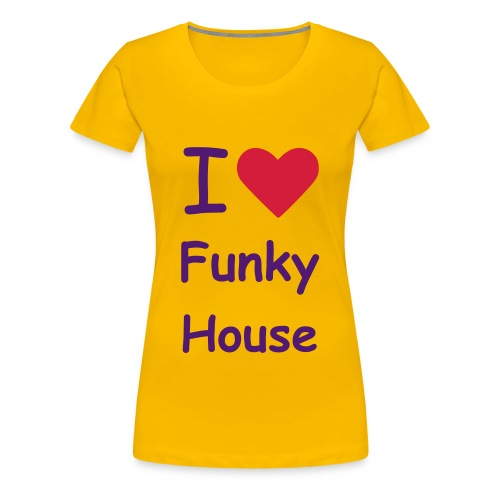 FUNKY TEE YELLOW AND PURPLE - Women's Premium T-Shirt
