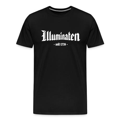 Männer Übergrößenshirt Illuminaten - Männer Premium T-Shirt