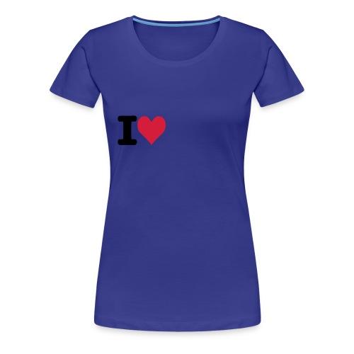 ilove - Camiseta premium mujer