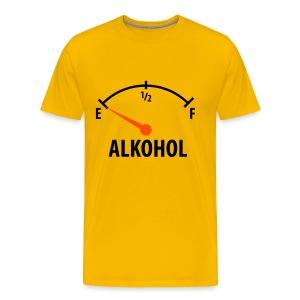 Żółty T-shirt - WZOROWY KIEROWCA - Koszulka męska Premium