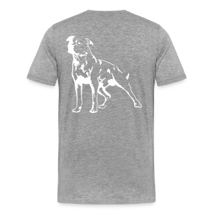 Grey/White Men's D.O.T.L Classic T-shirt - Men's Premium T-Shirt
