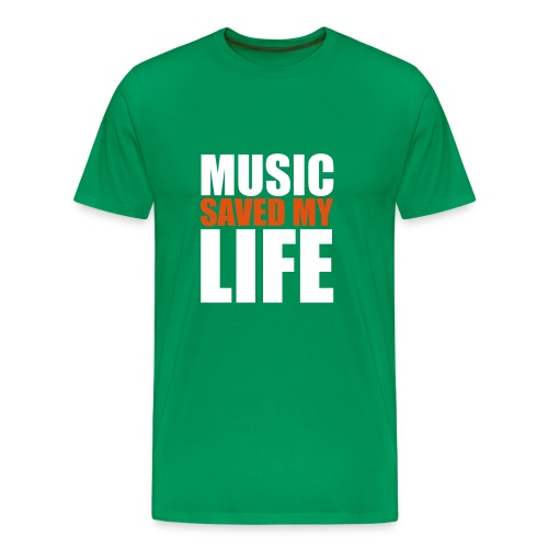 t-shirt music saved my life - T-shirt Premium Homme