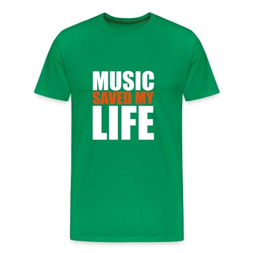 t-shirt music saved my life - T-shirt Premium Homme