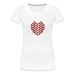 Strawberry Heart Women's T shirt - Women's Premium T-Shirt