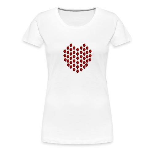 Strawberry Heart Women's T shirt - Women's Premium T-Shirt