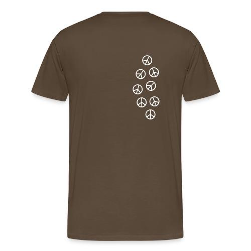 T-shirt splach peace marron - T-shirt Premium Homme