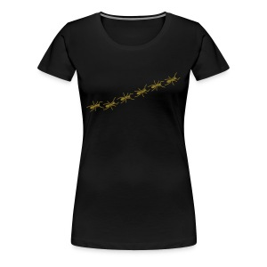 Ants Line - golden/black girlie - Frauen Premium T-Shirt