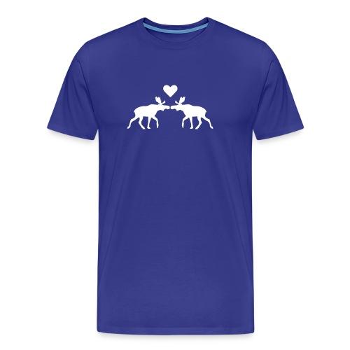 Elchliebe - hellbleu - Männer Premium T-Shirt