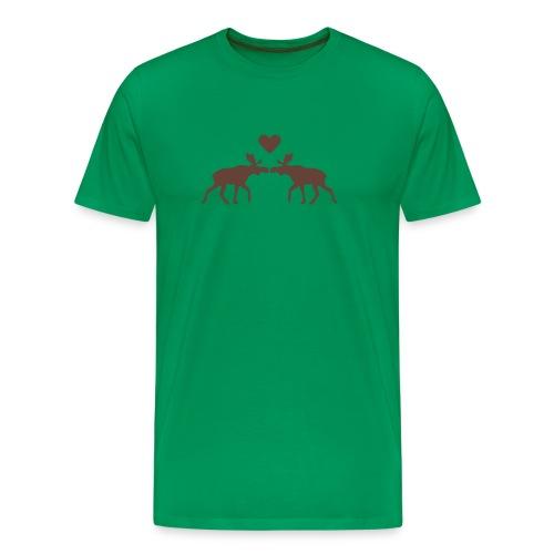 Elchliebe - grün - Männer Premium T-Shirt