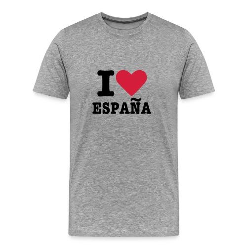 I Love España - Camiseta premium hombre