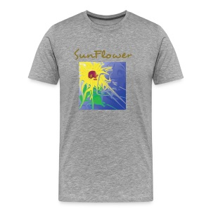 SunFlower grey - Männer Premium T-Shirt