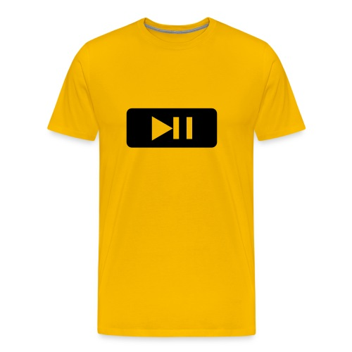 Play/Pause - Men's Premium T-Shirt