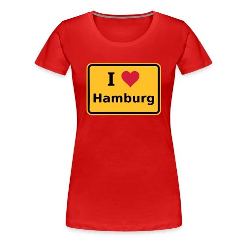 I love Hamburg - Frauen Premium T-Shirt